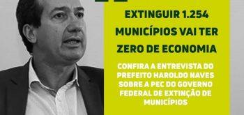 """""""Extinguir 1.254 municípios vai ter zero de economia"""""""